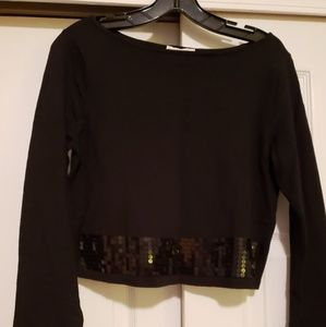 New w/ tags Eva Mendes black crop with sequins
